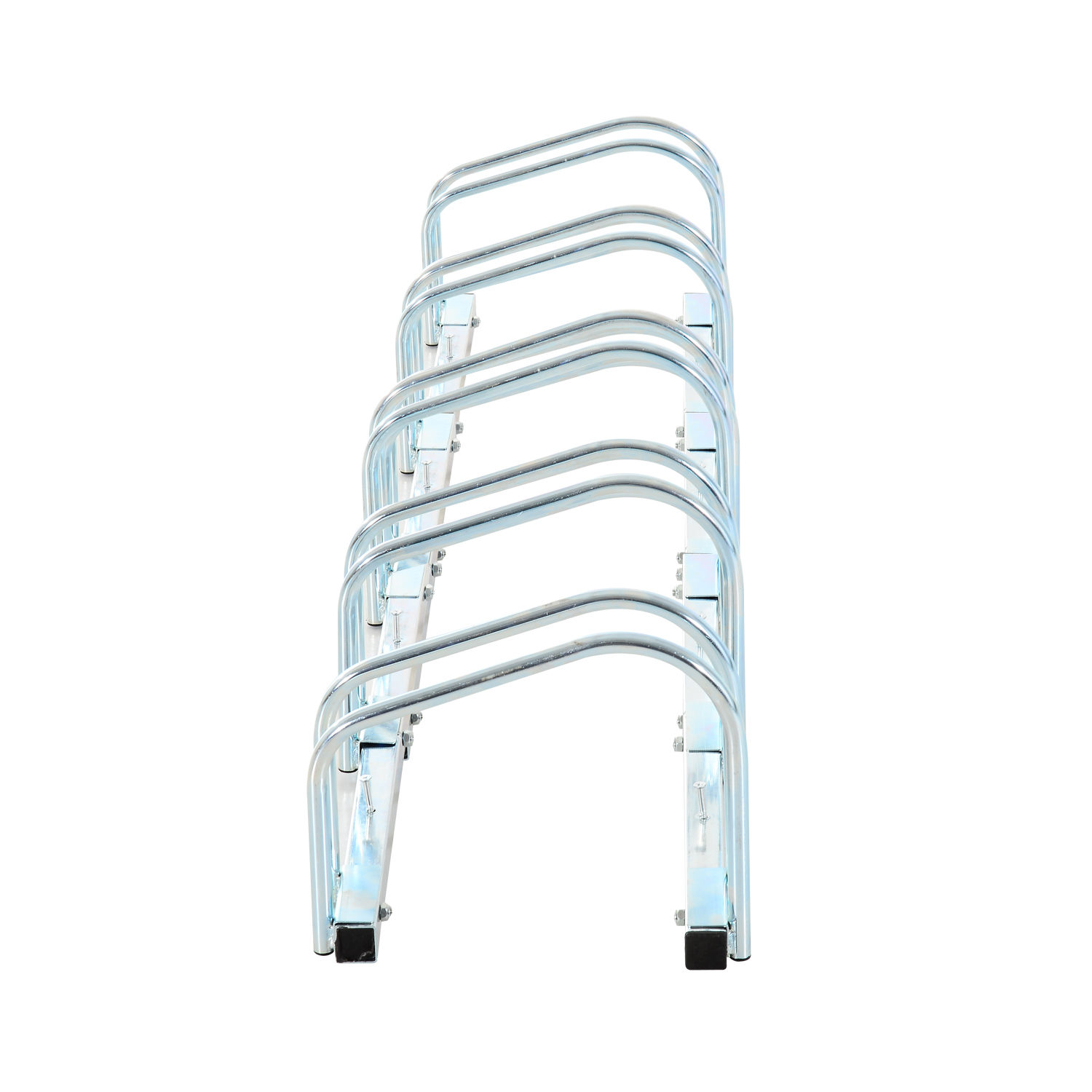 Bicycle-Bike-Parking-Cycle-Floor-Rack-Stand-Storage-Mount-Holder-Steel-Pipe miniatura 22
