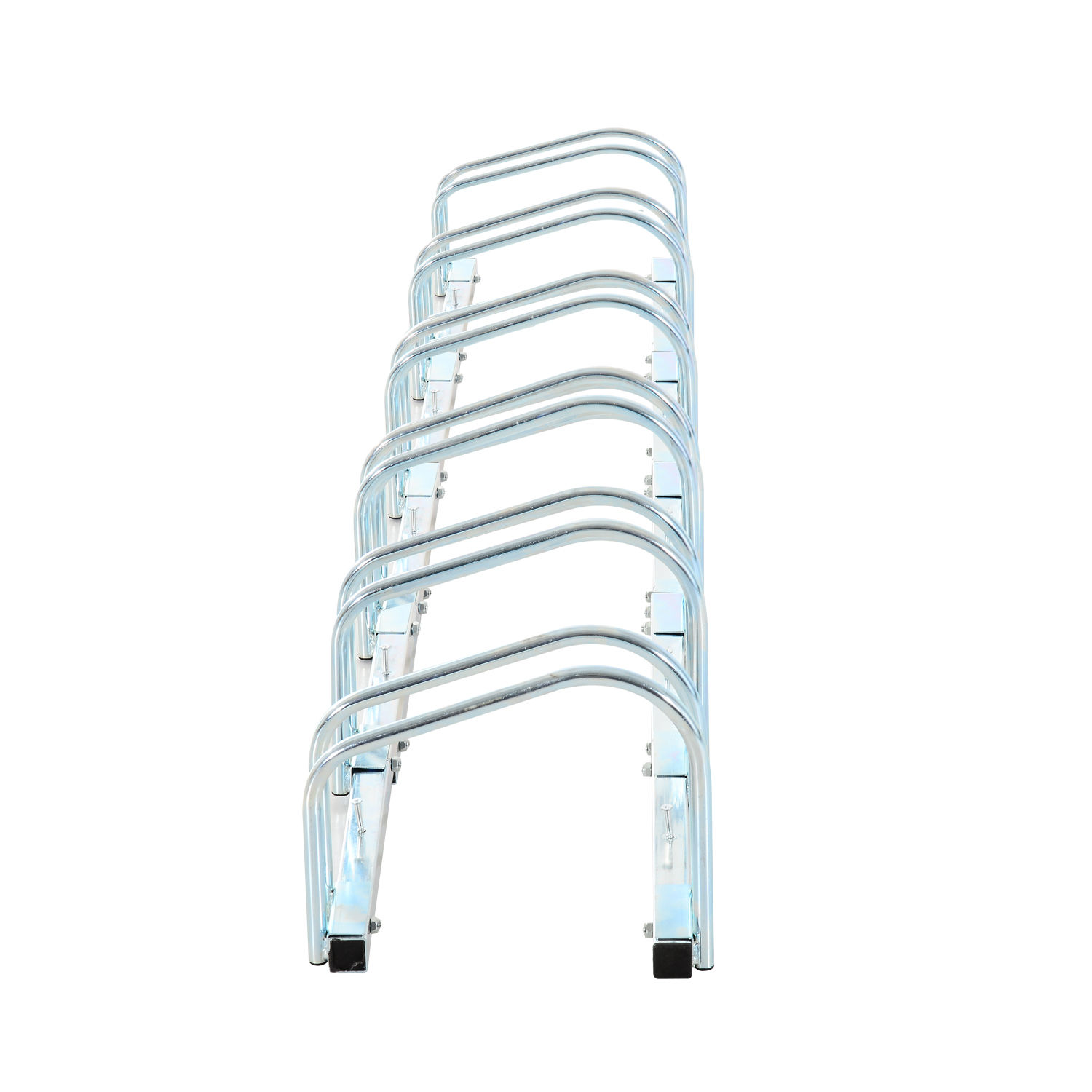 Bicycle-Bike-Parking-Cycle-Floor-Rack-Stand-Storage-Mount-Holder-Steel-Pipe miniatura 31