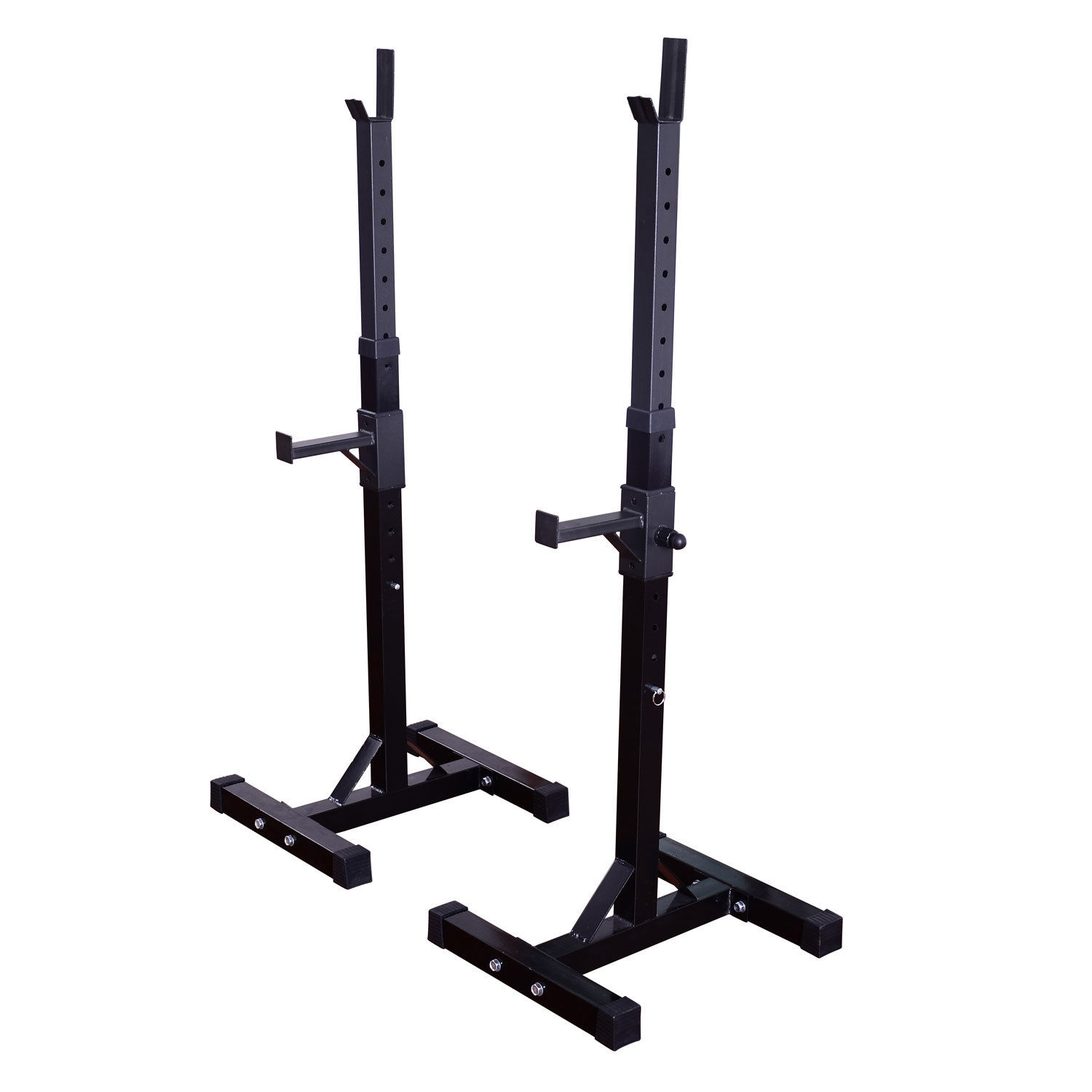 Outsunny Weight Bar Barbell Squat Stand Dip Station Lift