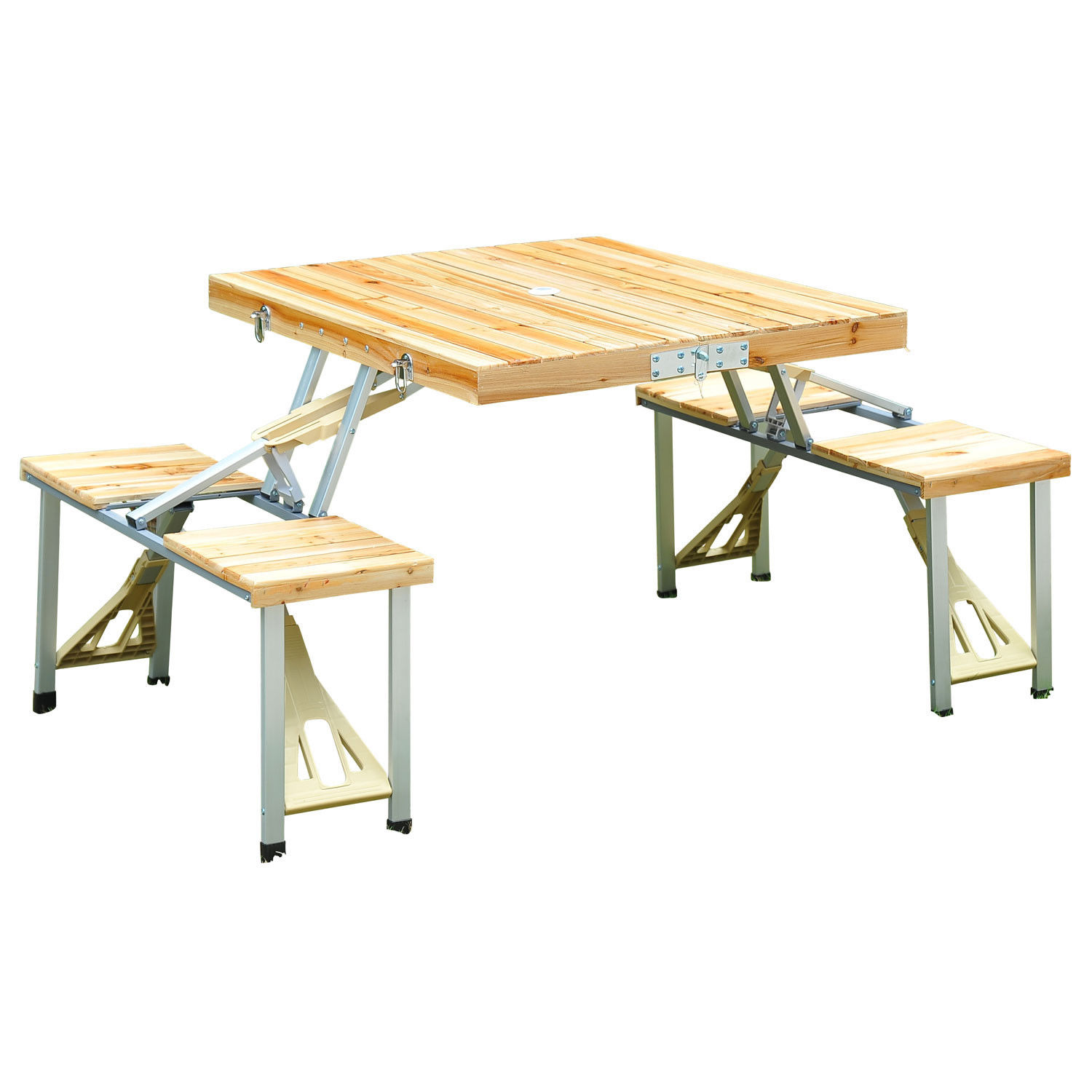 Portable-Folding-Camping-Picnic-Table-Party-Outdoor-Garden-Chair-Stools-Set thumbnail 53