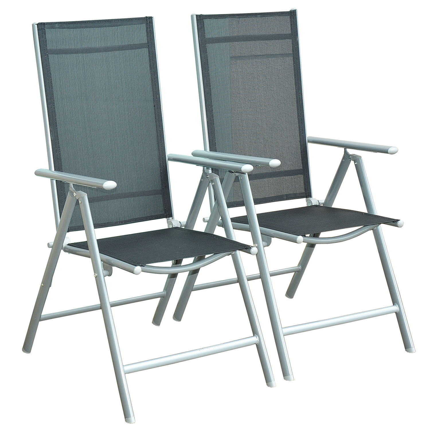 Garden Texteline Furniture Set Folding Chairs Square Table