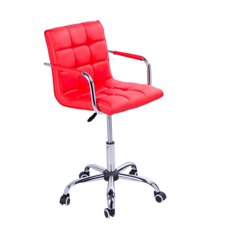 swivel office chair pu leather adjustable computer desk armchair