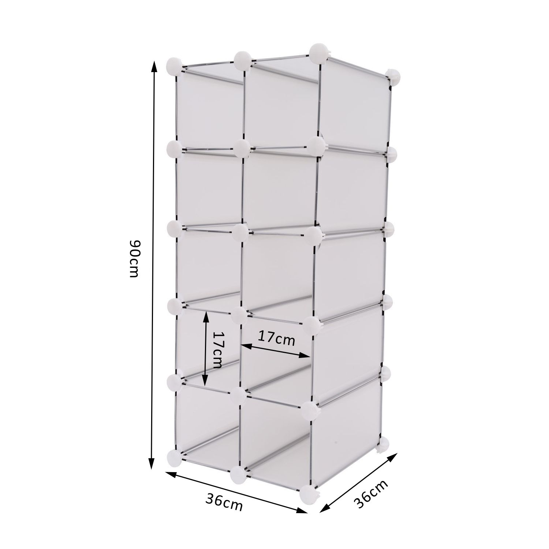 Interlocking Cube Organizer Plastic Storage Shoe Rack Display