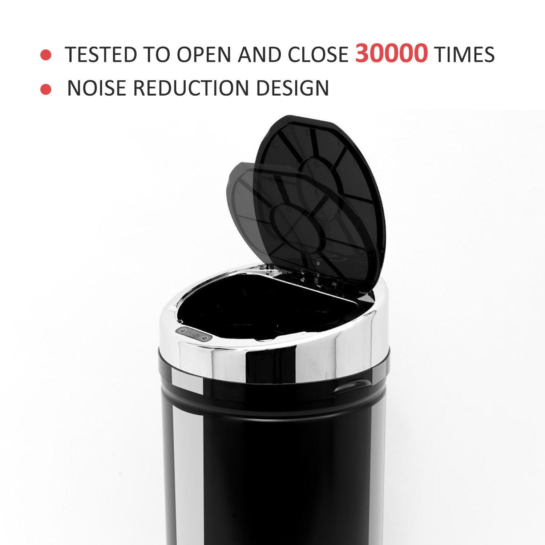 ACCIAIO-Inox-Automatico-Sensore-PATTUMIERA-IMMONDIZIA-SPAZZATURA-CUCINA-CESTINO-NUOVO miniatura 24