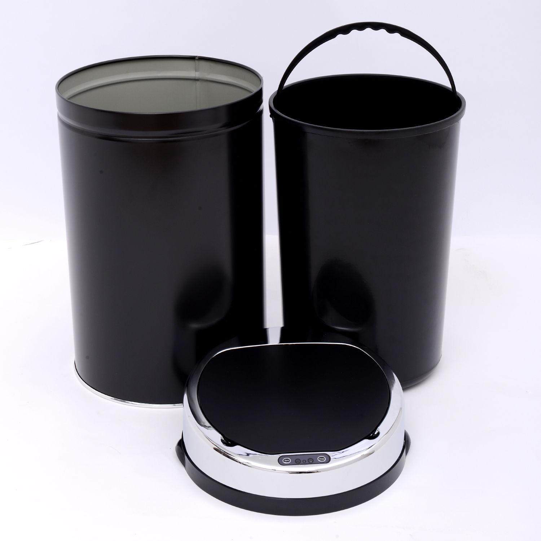 ACCIAIO-Inox-Automatico-Sensore-PATTUMIERA-IMMONDIZIA-SPAZZATURA-CUCINA-CESTINO-NUOVO miniatura 13