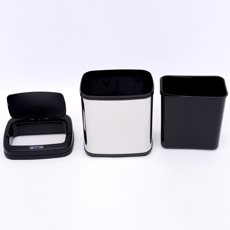 ACCIAIO-Inox-Automatico-Sensore-PATTUMIERA-IMMONDIZIA-SPAZZATURA-CUCINA-CESTINO-NUOVO miniatura 7