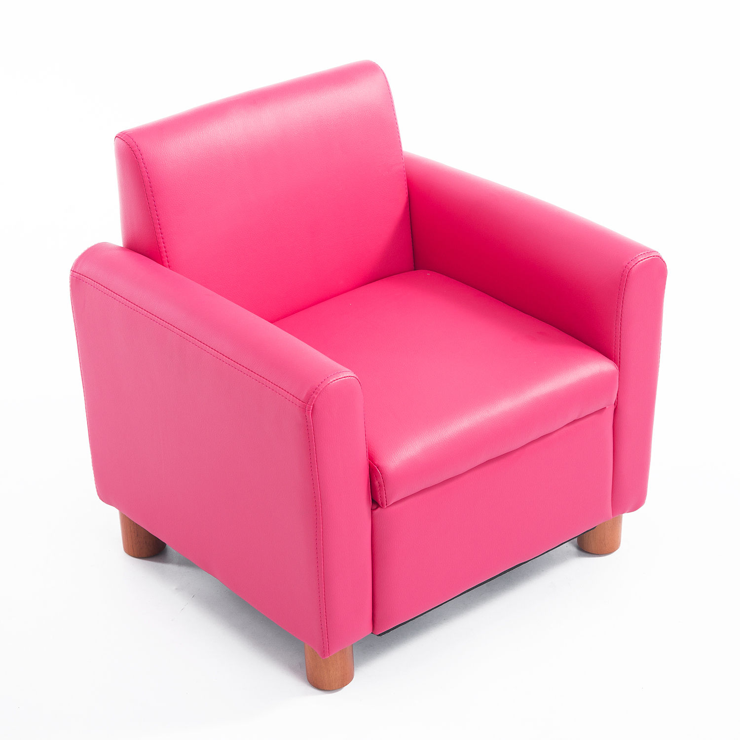 Kids Sofa Single PU Leather Armchair Pink Toddler Couch ...