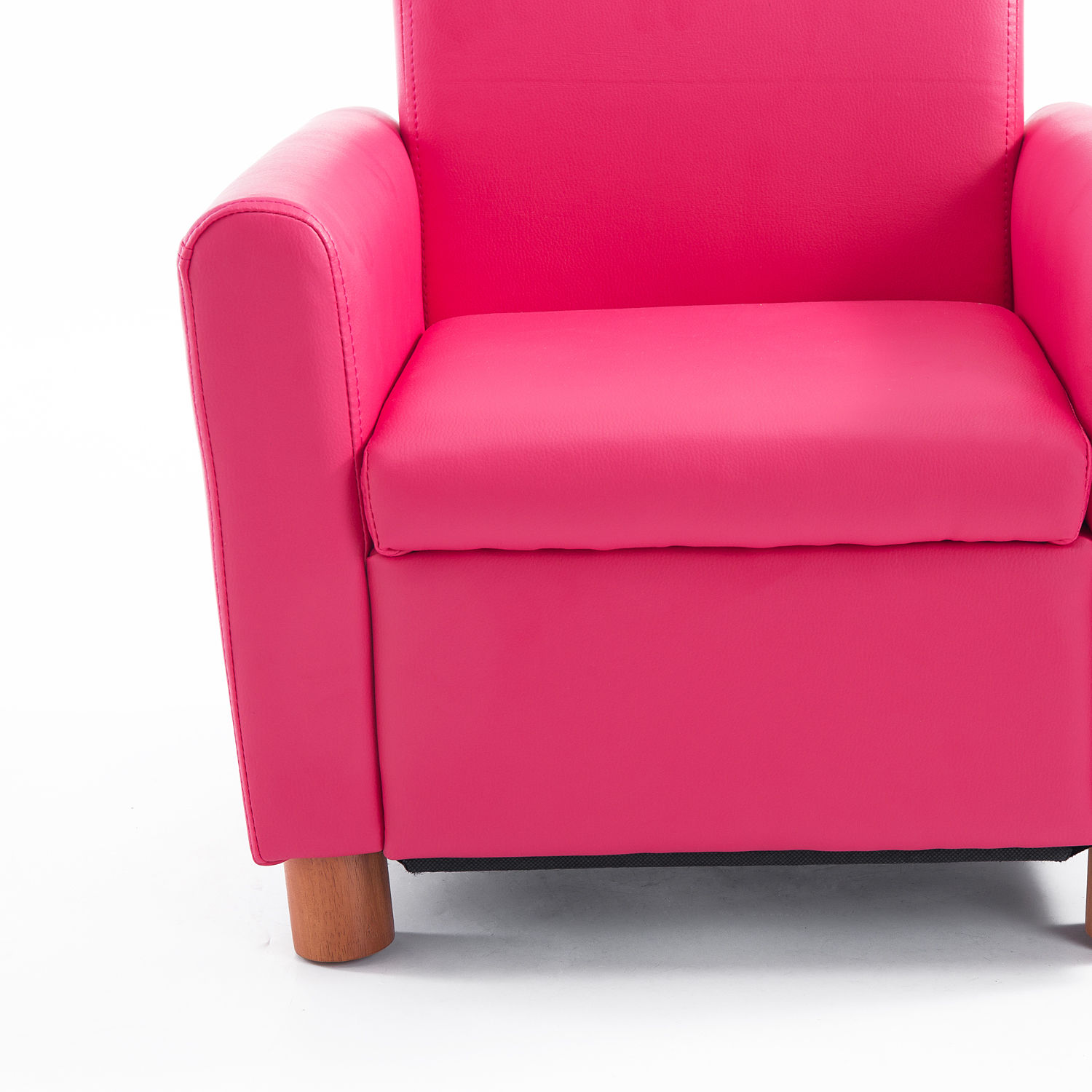 Pink Leather Sofa: Kids Sofa Single PU Leather Armchair Pink Toddler Couch