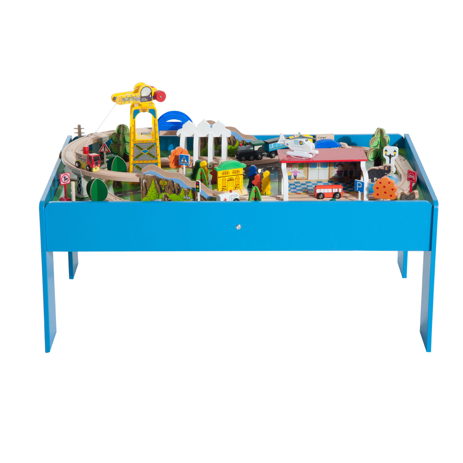 Wooden Train Set With Table & ... Train Set And Table \\u0026 ...
