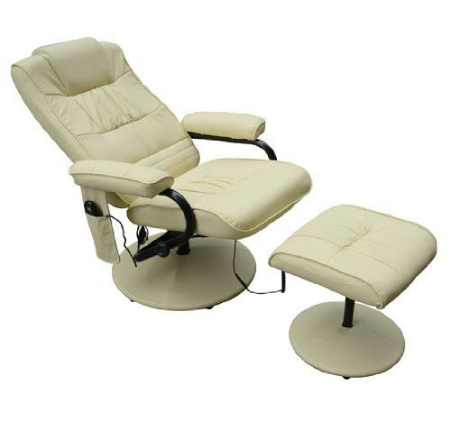 faux leather massage recliner easy sofa arm chair w foot stool