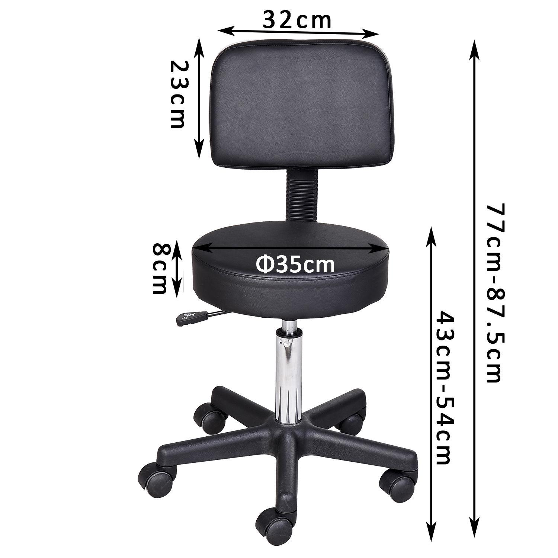 Massage-Stool-Beauty-Salon-Swivel-Gas-Lift-Manicure-Tattoo-Stools-Chair-2-Colour