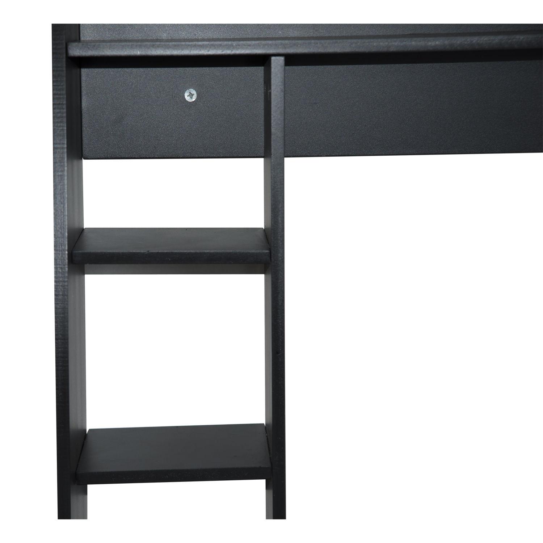 homcom floating wall mounted desk home office computer. Black Bedroom Furniture Sets. Home Design Ideas