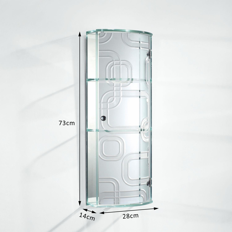 Wall-Mounted-Glass-Display-Mirror-Door-Curved-Cupboard-Storage-Cabinet-Shelf