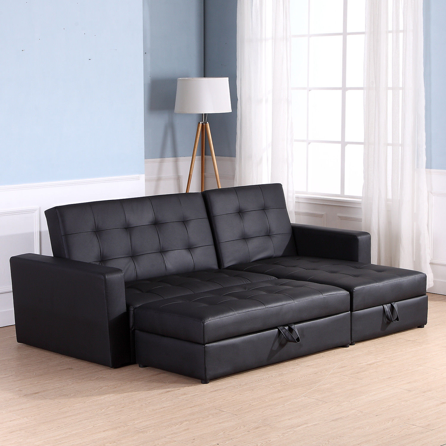 Sofa Bed Storage Sleeper Chaise Loveseat Couch Sectional
