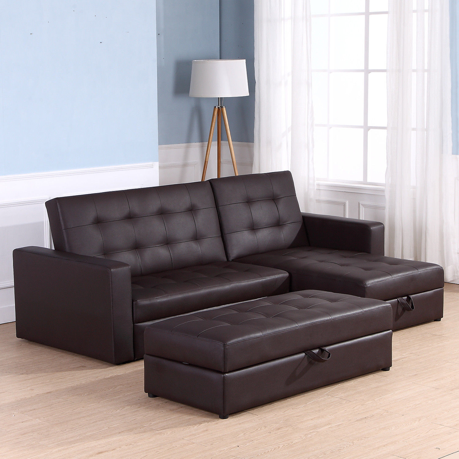 Sofa Bed Storage Sleeper Chaise Loveseat Couch Sectional ...