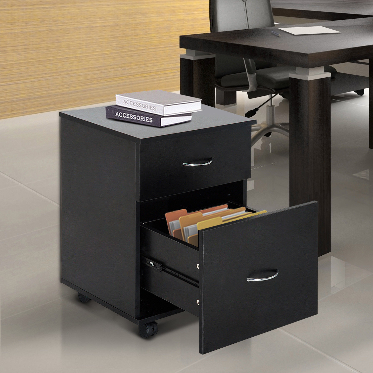 office side table. Mobile-File-Cabinet-Wooden-Side-Table-Filling-2- Office Side Table
