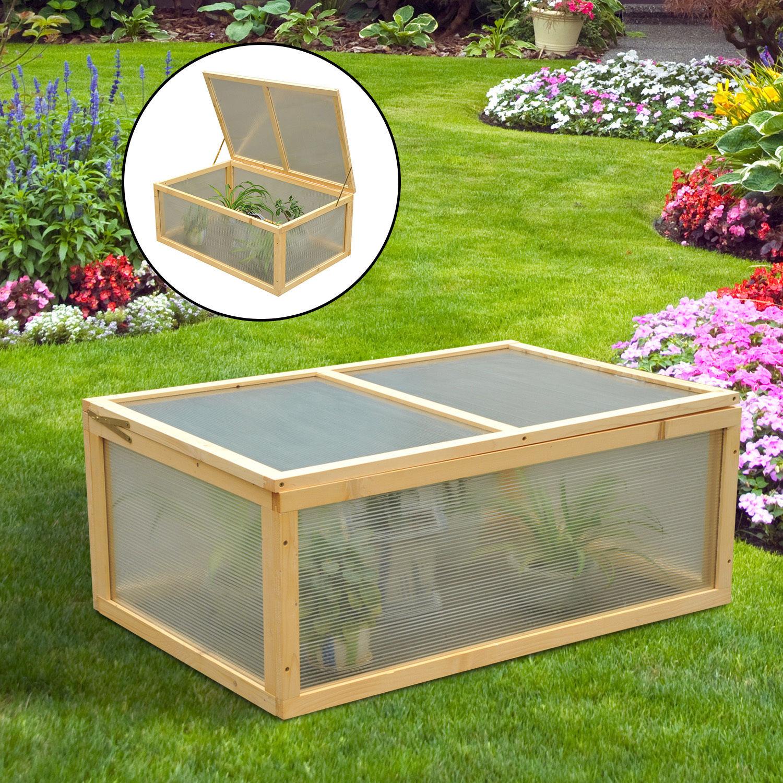 mini wood greenhouse cold frame garden flower planting box. Black Bedroom Furniture Sets. Home Design Ideas