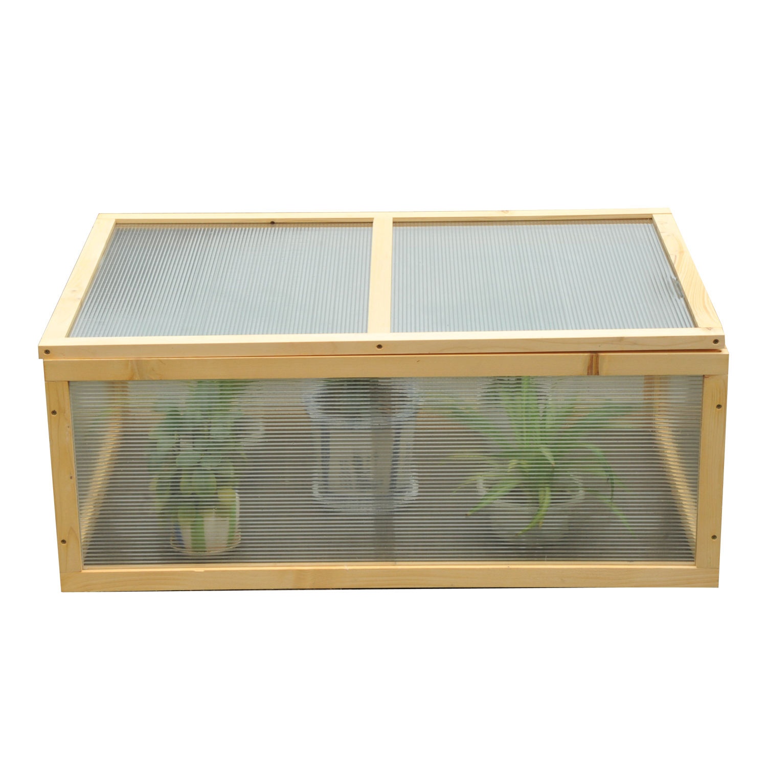 Mini Wood Greenhouse Cold Frame Garden Flower Planting Box Growhouse ...
