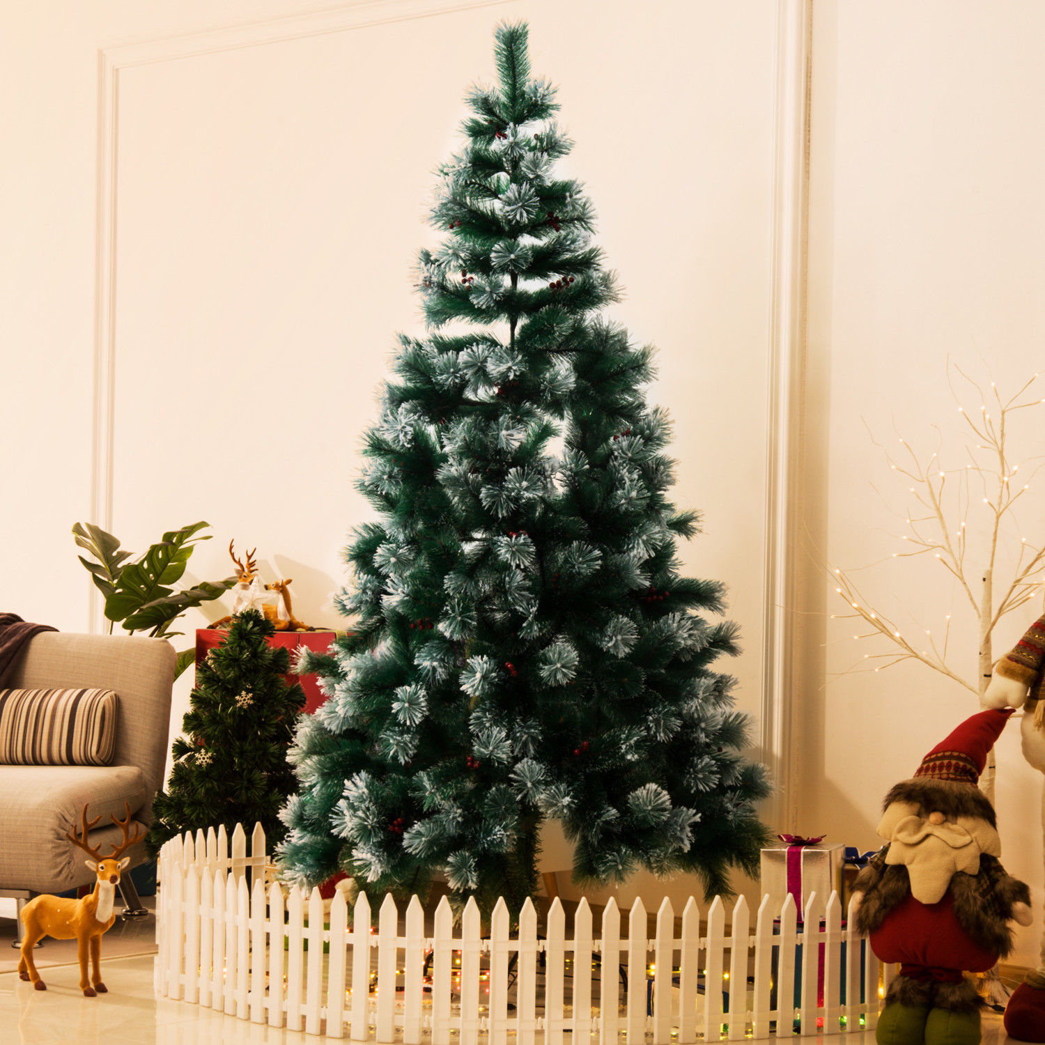 3ft-4ft-5ft-6ft-7ft-Artificial-Christmas-Xmas-Tree-LED-Snowflake-from-7-99
