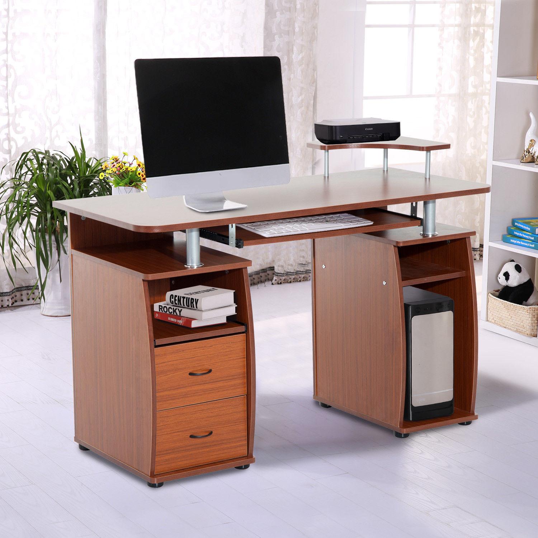Wooden Pc Computer Desk Desktop Table Home Office