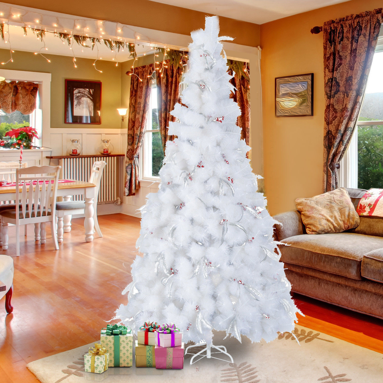 7ft Black Pre Lit Christmas Tree: 3ft 4ft 5ft 6ft 7ft Artificial Christmas Xmas Tree LED