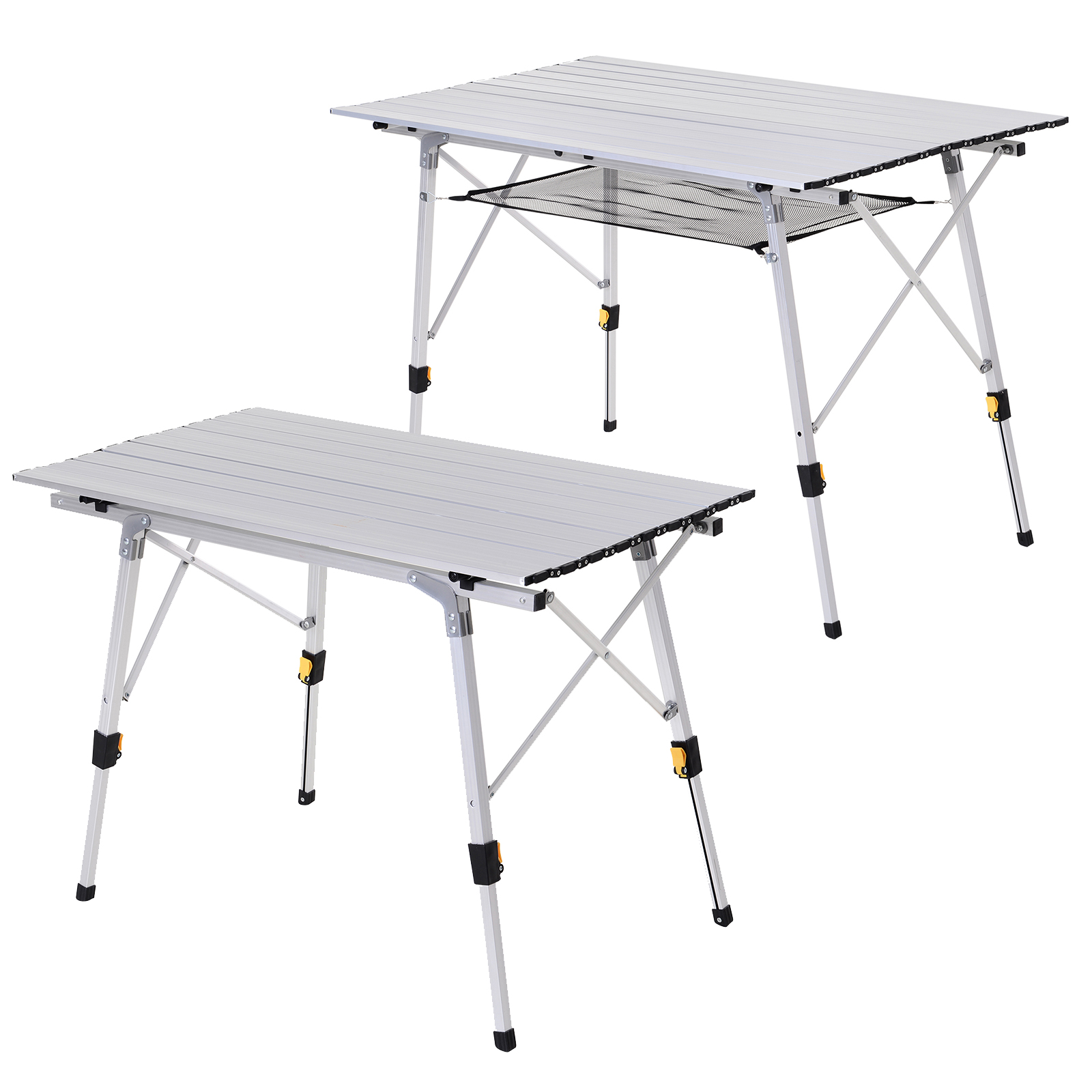 - Portable Roll-up Aluminium Folding Picnic Table Outdoor BBQ Party