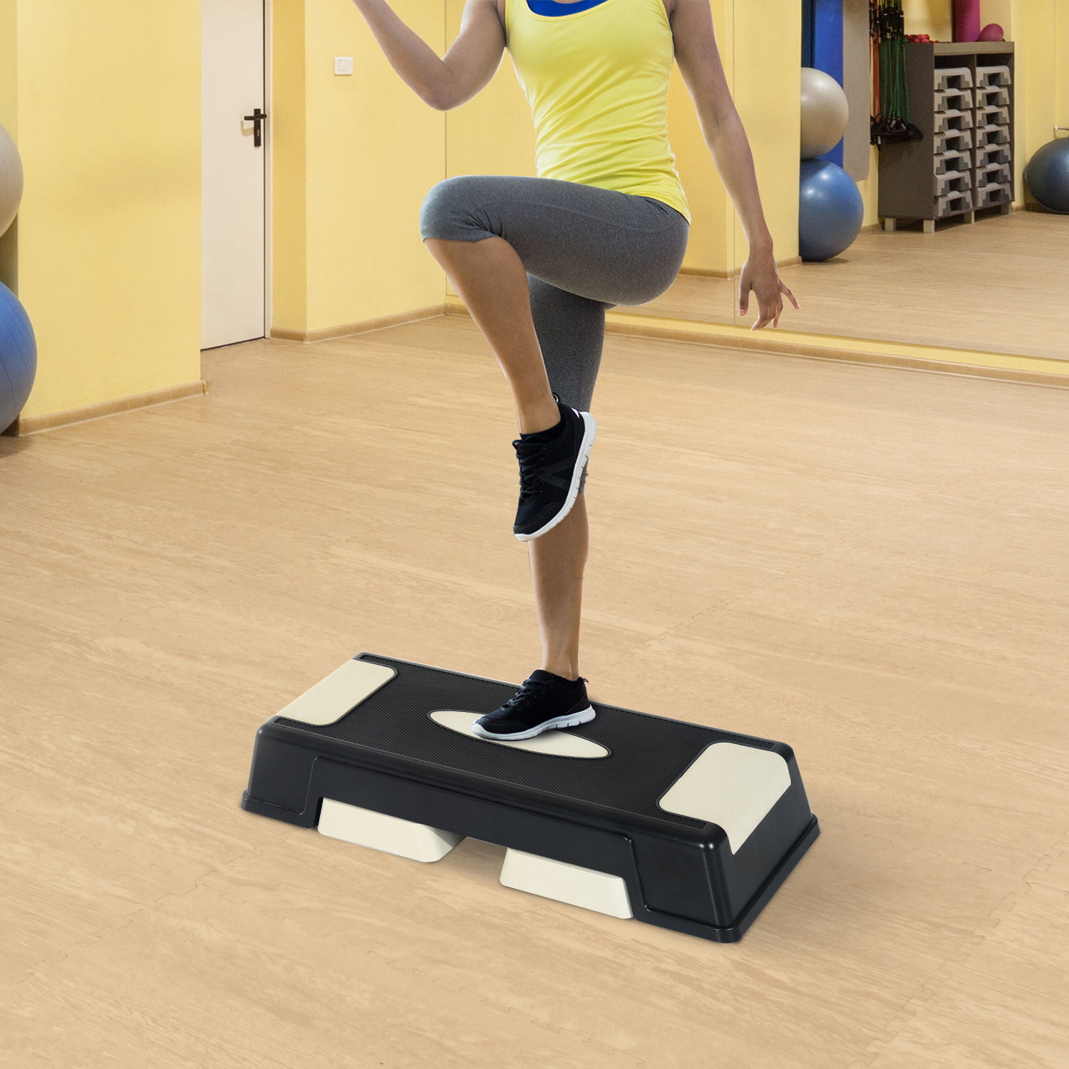 3 Levels Aerobic Stepper Adjustable Fitness Exercise Board