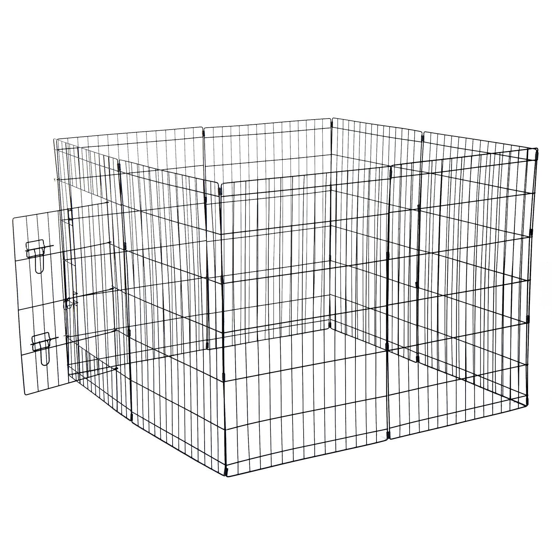 Pet Cage Metal Playpen 8 Panel Dog Cat Rabbit Play Pen Wire Run ...