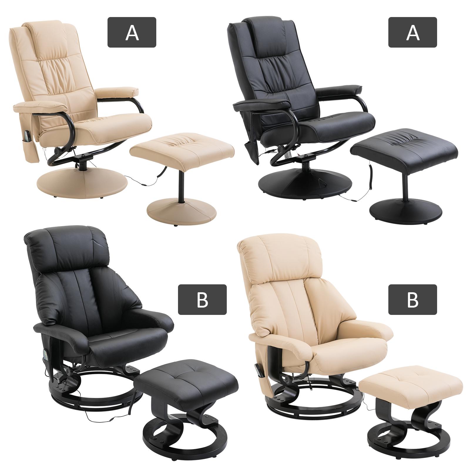 Recliner Massage Chair Arm Chair Armchair Stool 10 Point Massage Heat Function Ebay