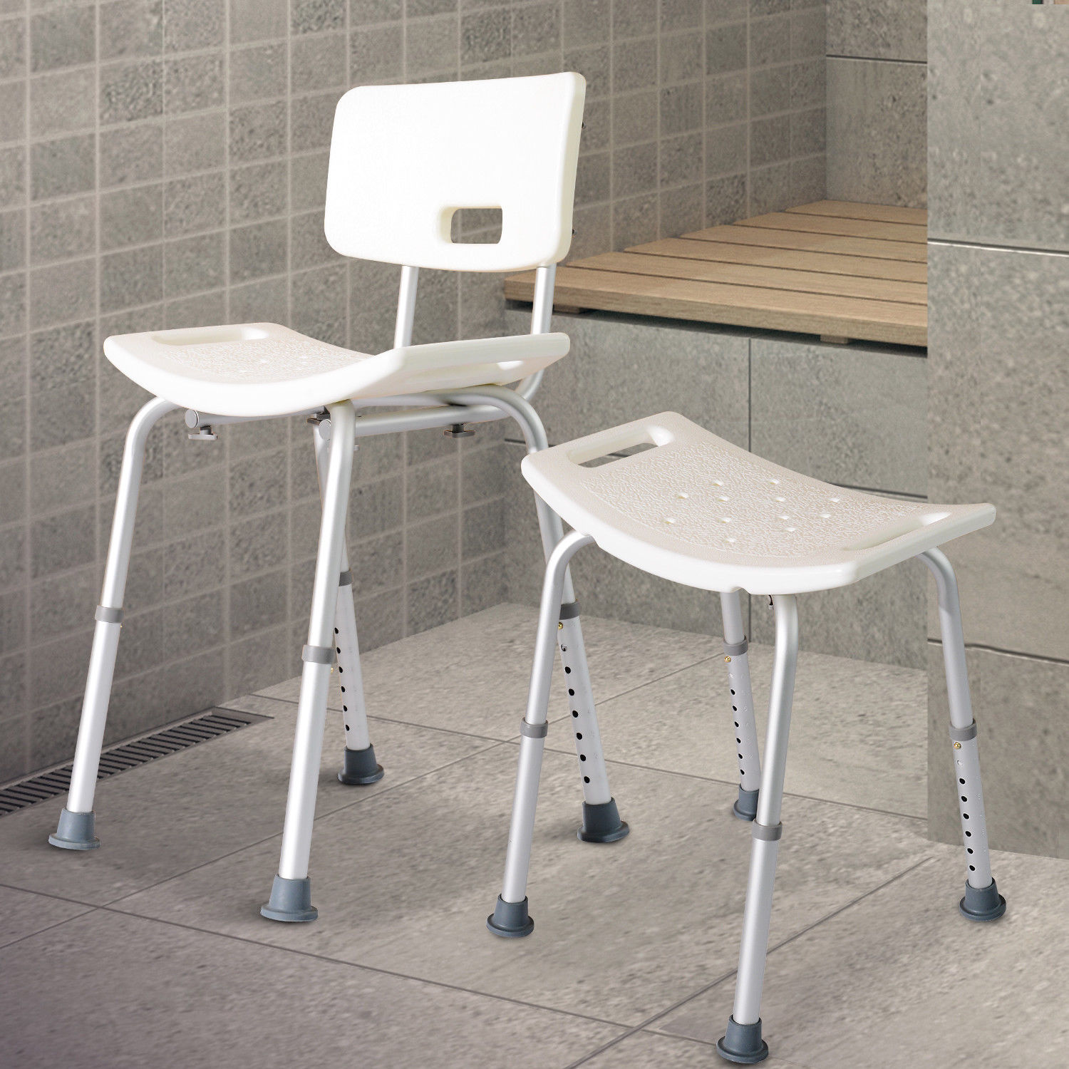 Color : B Beauty Shower Chair with Safety Backrest Height Adjustable Portable Medical Stool Non-Slip Bath Chair Bath Bench for The Disabled