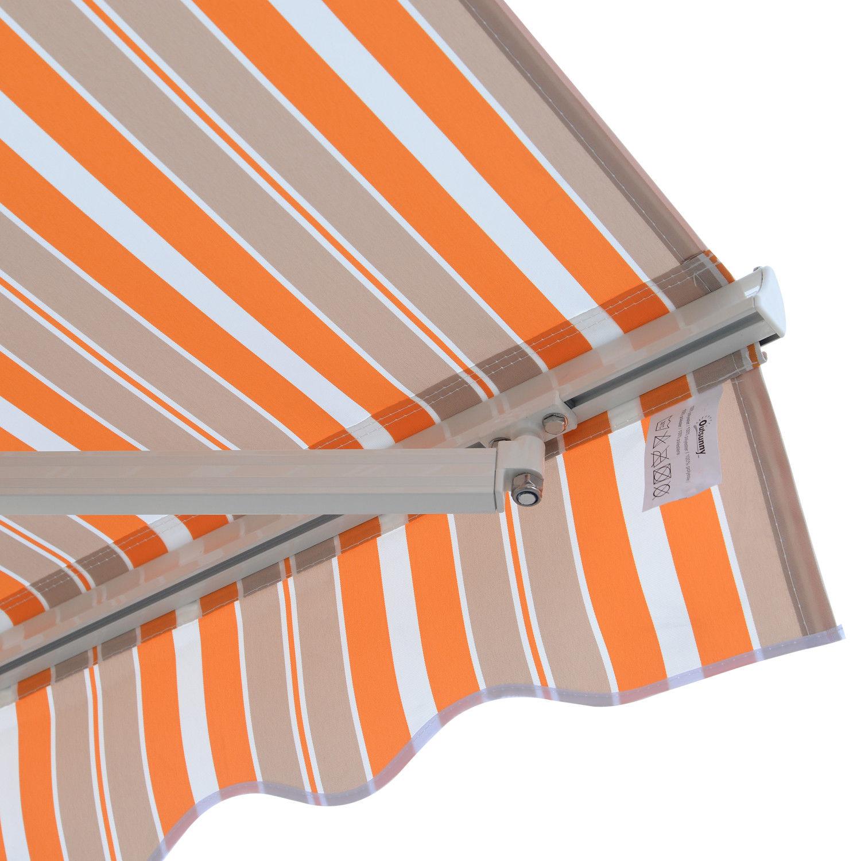 Alu-Markise-Markise-Aluminium-Gelenkarm-Sonnenschutz-5-Farben-4-Groessen-waehlbar Indexbild 36