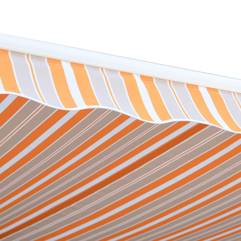 Alu-Markise-Markise-Aluminium-Gelenkarm-Sonnenschutz-5-Farben-4-Groessen-waehlbar Indexbild 37