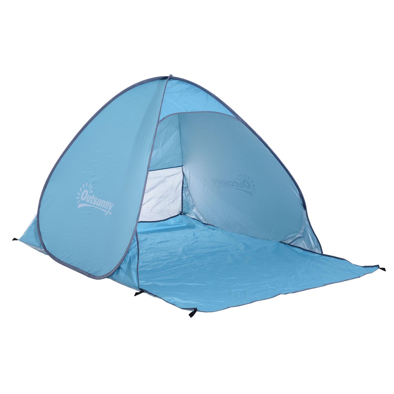 Indexbild 14 - Outsunny-Wurfzelt-Strandzelt-Pop-Up-Zelt-Strandmuschel-Automatisch-Campingzelt