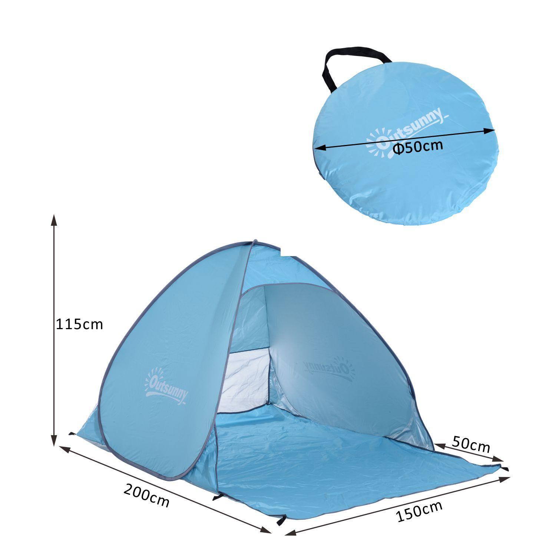 Indexbild 13 - Outsunny-Wurfzelt-Strandzelt-Pop-Up-Zelt-Strandmuschel-Automatisch-Campingzelt