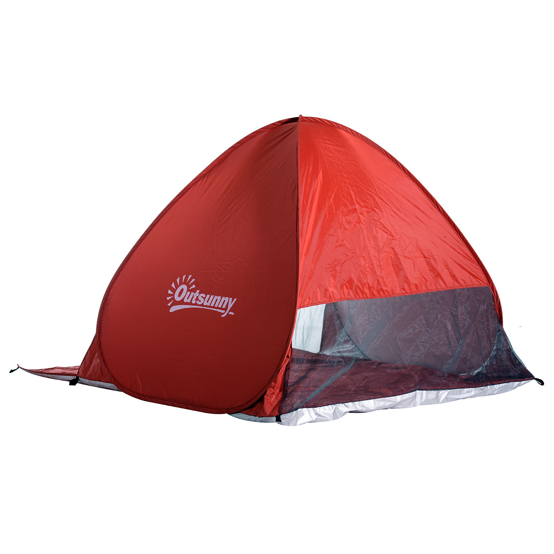 Indexbild 22 - Outsunny-Wurfzelt-Strandzelt-Pop-Up-Zelt-Strandmuschel-Automatisch-Campingzelt
