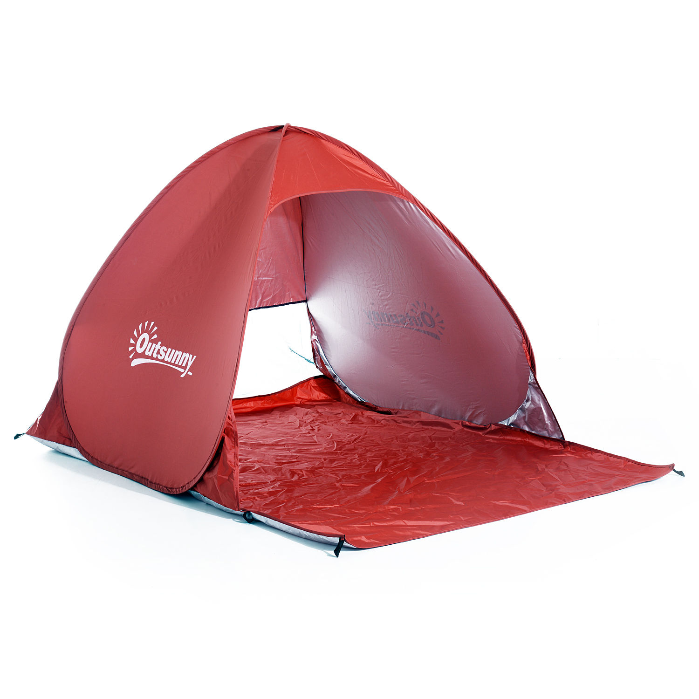 Indexbild 24 - Outsunny-Wurfzelt-Strandzelt-Pop-Up-Zelt-Strandmuschel-Automatisch-Campingzelt