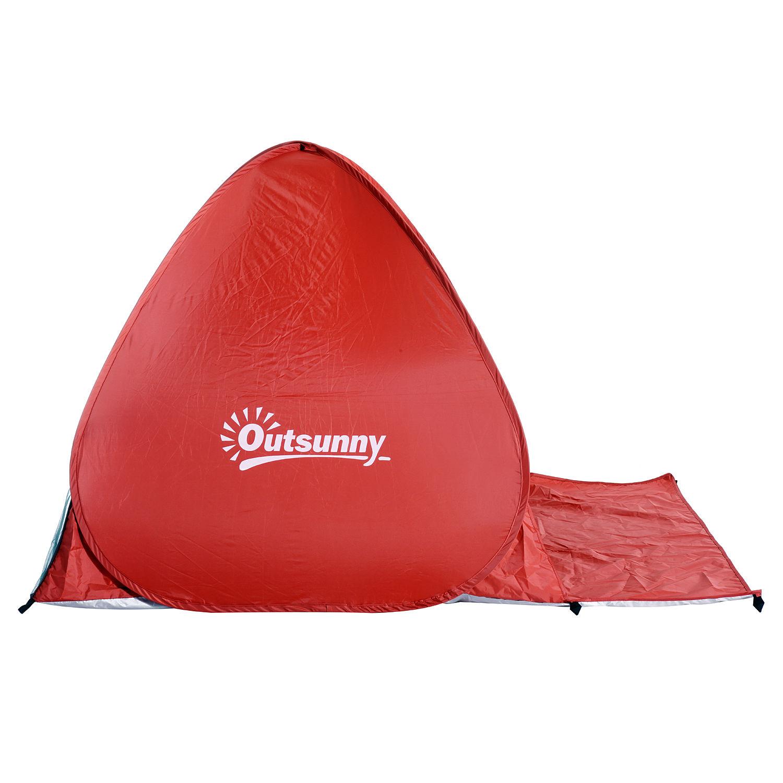 Indexbild 20 - Outsunny-Wurfzelt-Strandzelt-Pop-Up-Zelt-Strandmuschel-Automatisch-Campingzelt
