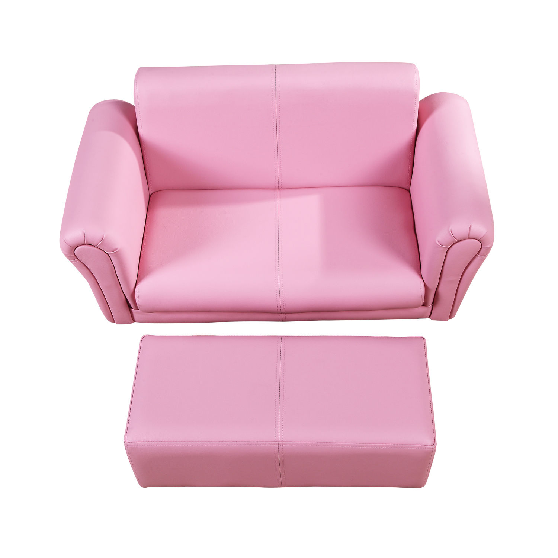Details zu Homcom Kindersessel Kindersofa Sofa Sessel Kinder Softsofa mit  Hocker 2 Farben