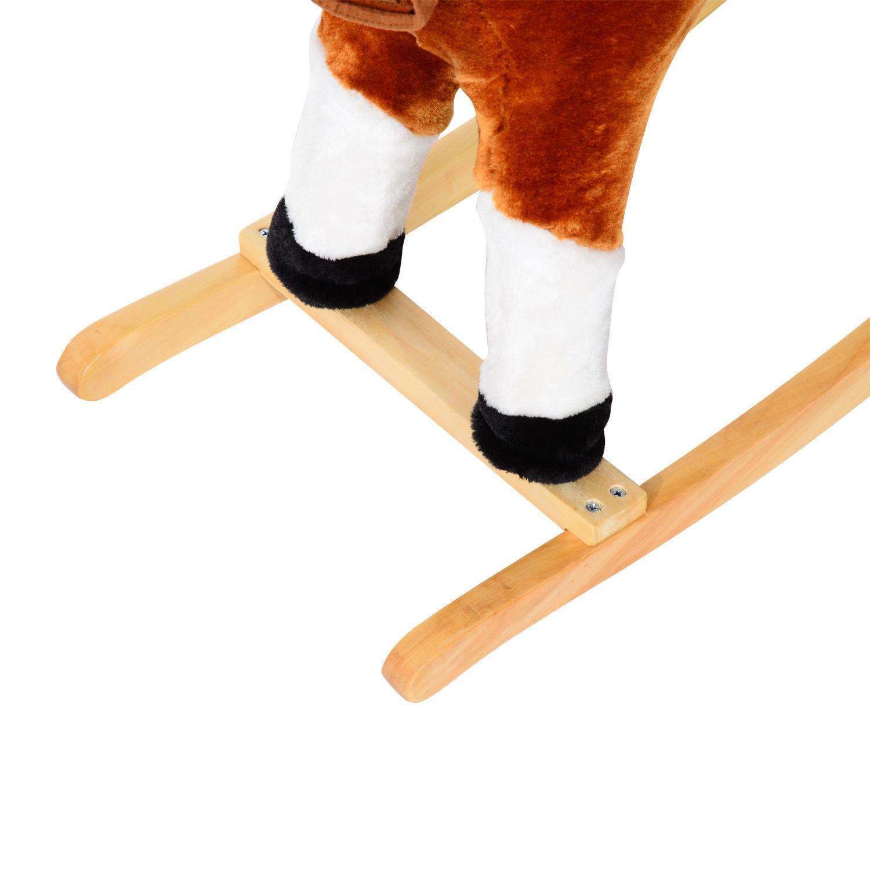 Homcom-Schaukelpferd-Schaukeltier-Schaukelspielzeug-Babyschaukel-Spielzeug-Baby