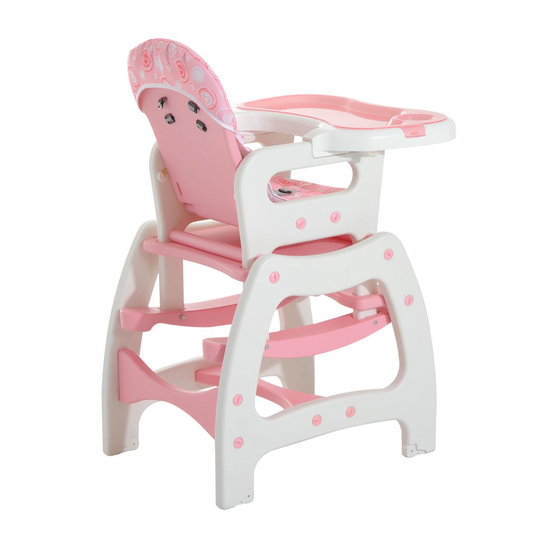 3-in-1-Kinderhochstuhl-Kombihochstuhl-Multifunktion-Stuhl-Tisch-mit-Schaukel