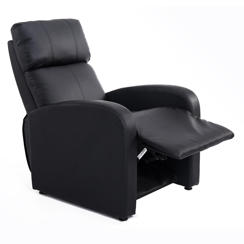 homcom relaxsessel ruhesessel fernsehsessel sessel mit liegefunktion kunstleder ebay