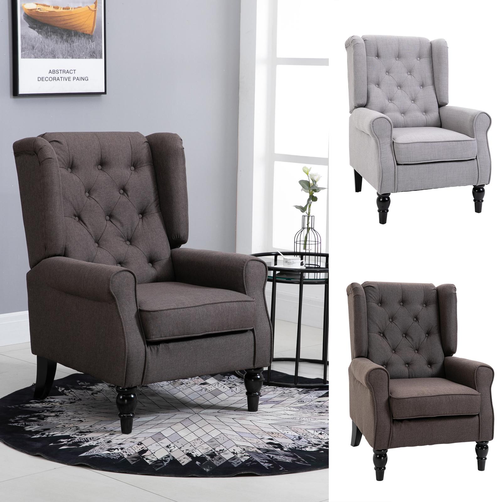 HOMCOM Einzelsofa Relaxsessel Einzelstuhl mit Tufting ...