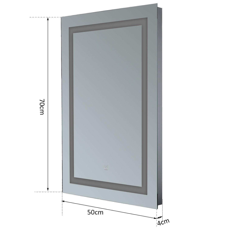 Led Design Lichtspiegel Badspiegel Wandspiegel: Homcom Lichtspiegel LED Spiegel Badspiegel