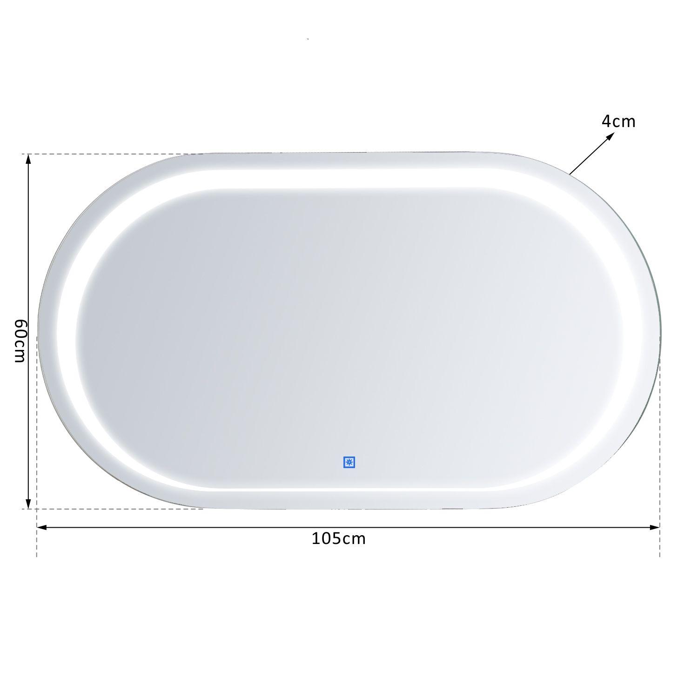 LED Badspiegel Lichtspiegel Wandspiegel Badezimmer Spiegel ...