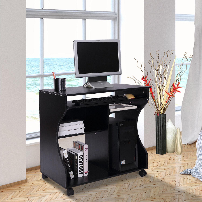 Computertisch Bürotisch PC Schreibtisch Arbeitstisch Bürotisch Schwarz Neu Toll