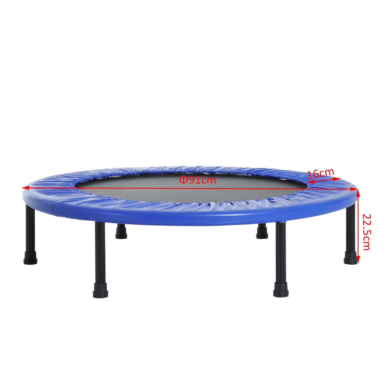 Trampolin-Minitrampolin-Sport-Fitness-Garten-Fitness-Stahl-PVC-2-Farben Indexbild 13