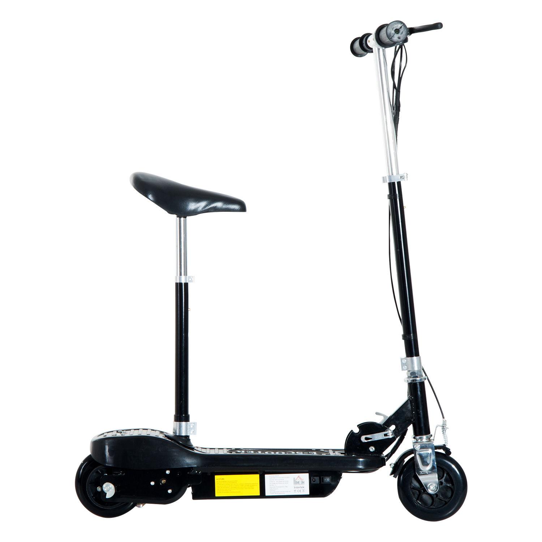 HOMCOM Elektroroller mit Sitz Kinder Kinder Kinder Tretroller Cityroller Roller 120 W 2 Farben 07366b