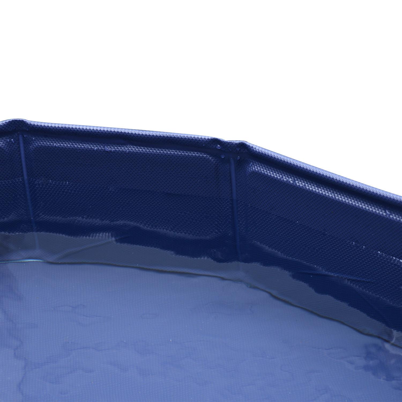 Pawhut-Hundebadewanne-Hundepool-Wasserbecken-Swimmingpool-80-120-160cm-Blau-Rot Indexbild 13