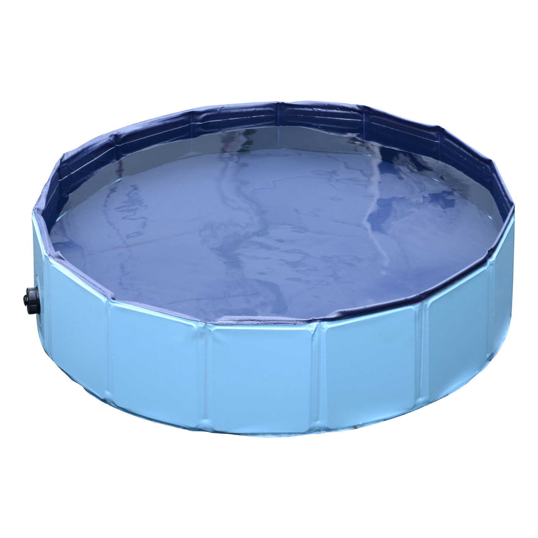 Pawhut-Hundebadewanne-Hundepool-Wasserbecken-Swimmingpool-80-120-160cm-Blau-Rot Indexbild 10