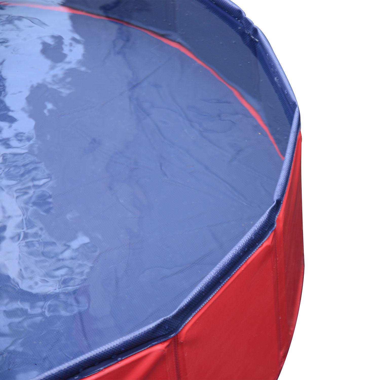 Pawhut-Hundebadewanne-Hundepool-Wasserbecken-Swimmingpool-80-120-160cm-Blau-Rot Indexbild 22
